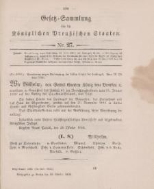 Gesetz-Sammlung für die Königlichen Preussischen Staaten, 28. Oktober 1896, nr. 27.