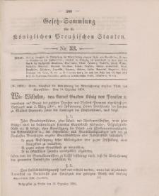 Gesetz-Sammlung für die Königlichen Preussischen Staaten, 29. Dezember 1896, nr. 33.