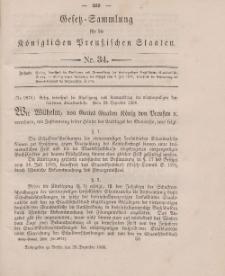 Gesetz-Sammlung für die Königlichen Preussischen Staaten, 28. Dezember 1896, nr. 34.