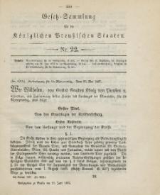Gesetz-Sammlung für die Königlichen Preussischen Staaten, 25. Juni, 1887, nr. 22.