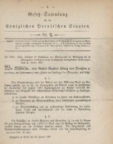 Gesetz-Sammlung für die Königlichen Preussischen Staaten, 24. Januar, 1883, nr. 2.