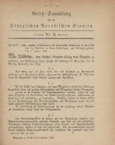 Gesetz-Sammlung für die Königlichen Preussischen Staaten, 2. Februar, 1883, nr. 3.