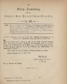 Gesetz-Sammlung für die Königlichen Preussischen Staaten, 15. August, 1883, nr. 23.