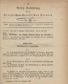 Gesetz-Sammlung für die Königlichen Preussischen Staaten, 1. September, 1883, nr. 25.