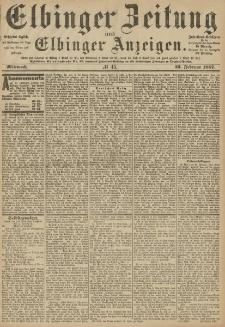 Elbinger Zeitung und Elbinger Anzeigen, Nr. 45 Mittwoch 23. Februar 1887