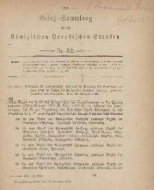 Gesetz-Sammlung für die Königlichen Preussischen Staaten, 17. November, 1883, nr. 32.