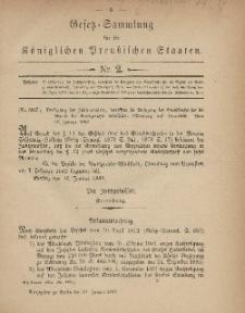 Gesetz-Sammlung für die Königlichen Preussischen Staaten, 21. Januar, 1882, nr. 2.