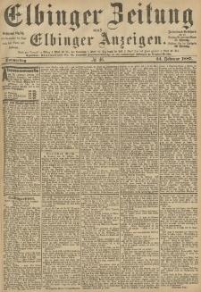 Elbinger Zeitung und Elbinger Anzeigen, Nr. 46 Donnerstag 24. Februar 1887