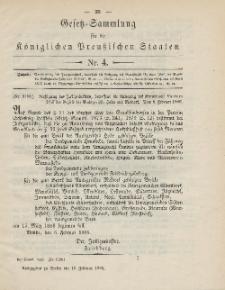 Gesetz-Sammlung für die Königlichen Preussischen Staaten, 19. Februar 1886, nr. 4.