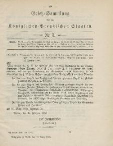 Gesetz-Sammlung für die Königlichen Preussischen Staaten, 10. März 1886, nr. 5.