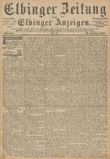 Elbinger Zeitung und Elbinger Anzeigen, Nr. 49 Sonntag 27. Februar 1887