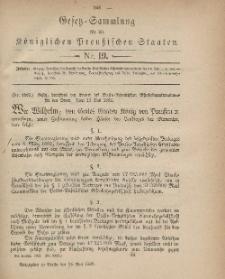 Gesetz-Sammlung für die Königlichen Preussischen Staaten, 25. Mai, 1882, nr. 19.