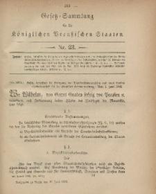 Gesetz-Sammlung für die Königlichen Preussischen Staaten, 17. Juni, 1882, nr. 23.