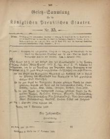 Gesetz-Sammlung für die Königlichen Preussischen Staaten, 17. November, 1882, nr. 35.