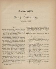 Gesetz-Sammlung für die Königlichen Preussischen Staaten (Sachregister), 1882