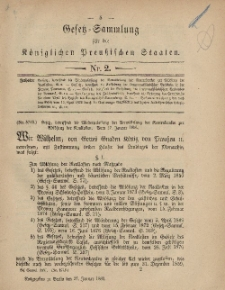 Gesetz-Sammlung für die Königlichen Preussischen Staaten, 27. Januar, 1881, nr. 2.