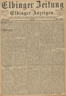 Elbinger Zeitung und Elbinger Anzeigen, Nr. 52 Donnerstag 3. März 1887