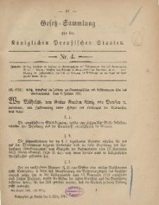 Gesetz-Sammlung für die Königlichen Preussischen Staaten, 3. März, 1881, nr. 4.