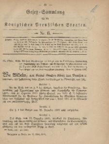 Gesetz-Sammlung für die Königlichen Preussischen Staaten, 12. März, 1881, nr. 6.
