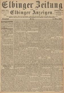 Elbinger Zeitung und Elbinger Anzeigen, Nr. 54 Sonnabend 5. März 1887