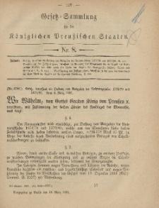 Gesetz-Sammlung für die Königlichen Preussischen Staaten, 16. März, 1881, nr. 8.