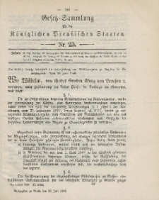 Gesetz-Sammlung für die Königlichen Preussischen Staaten, 22. Juli 1886, nr. 25.