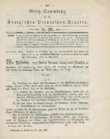 Gesetz-Sammlung für die Königlichen Preussischen Staaten, 27. Juli 1886, nr. 26.