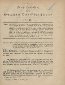 Gesetz-Sammlung für die Königlichen Preussischen Staaten, 29. März, 1881, nr. 11.