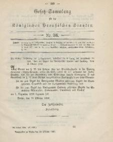 Gesetz-Sammlung für die Königlichen Preussischen Staaten, 25. Oktober 1886, nr. 36.