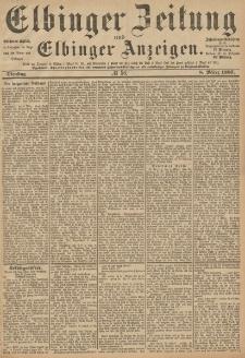 Elbinger Zeitung und Elbinger Anzeigen, Nr. 56 Dienstag 8. März 1887