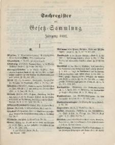 Gesetz-Sammlung für die Königlichen Preussischen Staaten (Sachregister), 1886