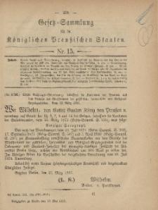 Gesetz-Sammlung für die Königlichen Preussischen Staaten, 10. Mai, 1881, nr. 15.