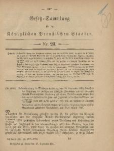 Gesetz-Sammlung für die Königlichen Preussischen Staaten, 17. September, 1881, nr. 23.