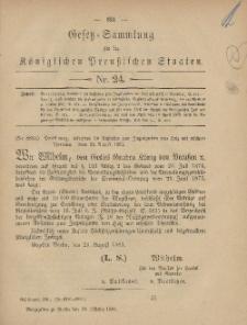 Gesetz-Sammlung für die Königlichen Preussischen Staaten, 16. Oktober, 1881, nr. 24.