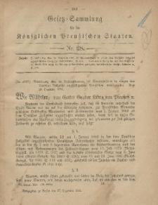 Gesetz-Sammlung für die Königlichen Preussischen Staaten, 27. Dezember, 1881, nr. 28.