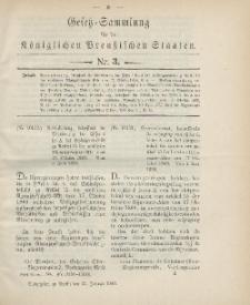 Gesetz-Sammlung für die Königlichen Preussischen Staaten, 24. Januar 1900, nr. 3.