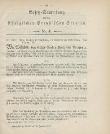 Gesetz-Sammlung für die Königlichen Preussischen Staaten, 25. Januar 1900, nr. 4.