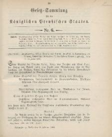 Gesetz-Sammlung für die Königlichen Preussischen Staaten, 13. Februar 1900, nr. 6.