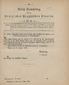 Gesetz-Sammlung für die Königlichen Preussischen Staaten, 3. März 1900, nr. 8.