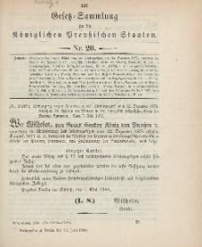 Gesetz-Sammlung für die Königlichen Preussischen Staaten, 12. Juni 1900, nr. 20.