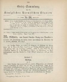 Gesetz-Sammlung für die Königlichen Preussischen Staaten, 12. Juli 1900, nr. 24.