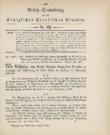 Gesetz-Sammlung für die Königlichen Preussischen Staaten, 4. August 1900, nr. 32.
