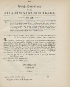 Gesetz-Sammlung für die Königlichen Preussischen Staaten, 1. November 1900, nr. 39.