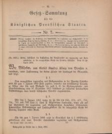 Gesetz-Sammlung für die Königlichen Preussischen Staaten, 1. März, 1880, nr. 7.
