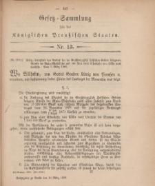 Gesetz-Sammlung für die Königlichen Preussischen Staaten, 10. März, 1880, nr. 13.