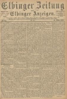 Elbinger Zeitung und Elbinger Anzeigen, Nr. 65 Freitag 18. März 1887