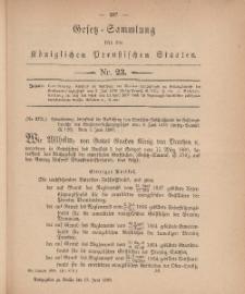Gesetz-Sammlung für die Königlichen Preussischen Staaten, 18. Juni, 1880, nr. 23.