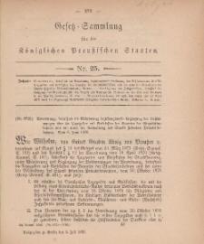 Gesetz-Sammlung für die Königlichen Preussischen Staaten, 2. Juli, 1880, nr. 25.