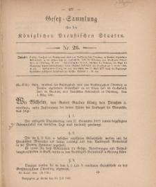 Gesetz-Sammlung für die Königlichen Preussischen Staaten, 20. Juli, 1880, nr. 26.