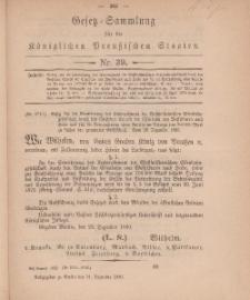Gesetz-Sammlung für die Königlichen Preussischen Staaten, 31. Dezember, 1880, nr. 39.